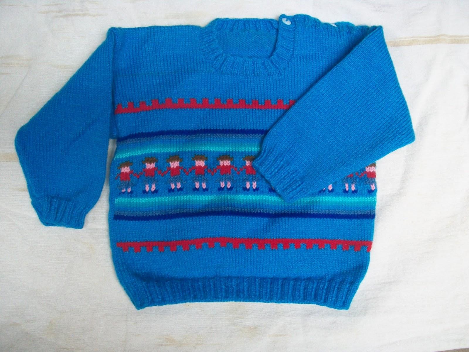 Chompas tejidos a palitos para niños - Imagui