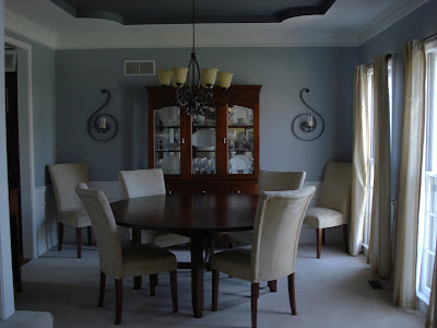 Before after the dining room anything pretty Sherwin williams uncertain gray