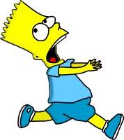 Bull running, Homer running...