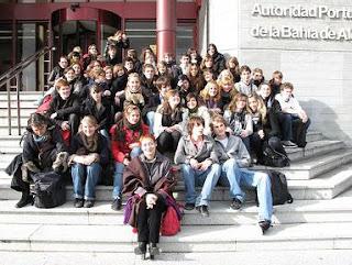 Estudiantes del Liceo Pierre Paul Riquet de St. Grens en la APBA