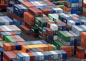 port shipping containers