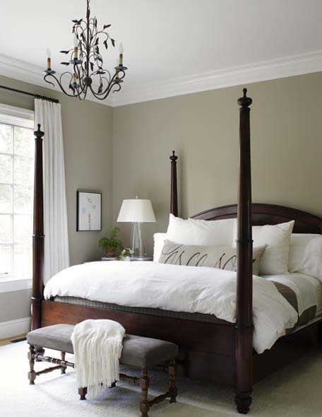 Adorned abode garden and gun featured designer o 39 brien for Master bedroom paint color ideas with dark furniture