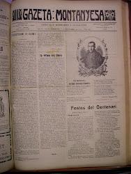 Portada de la Gazeta Montanyesa de 10 de setembre de 1910