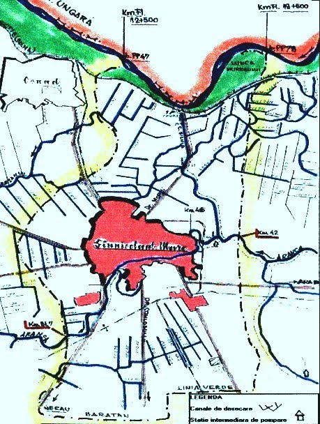Harta cu canalele de irigati