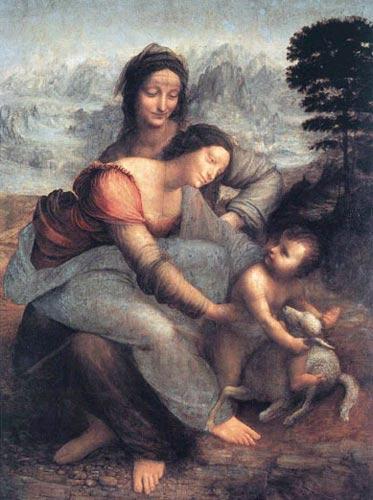 Leonardo Da Vinci Virgin and Saint Anne
