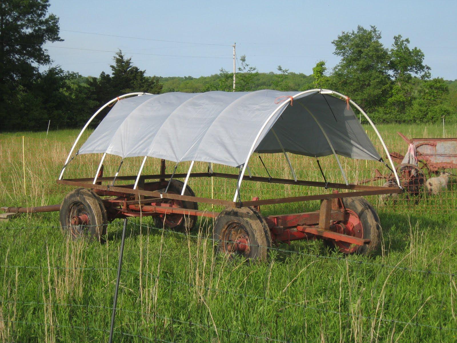 Kansas Fiber Farm Shade Shelters