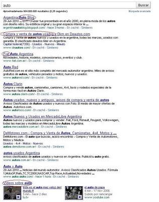 Resultados en buscador con QDD
