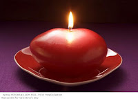 heart shape candle wallpaper for valentine