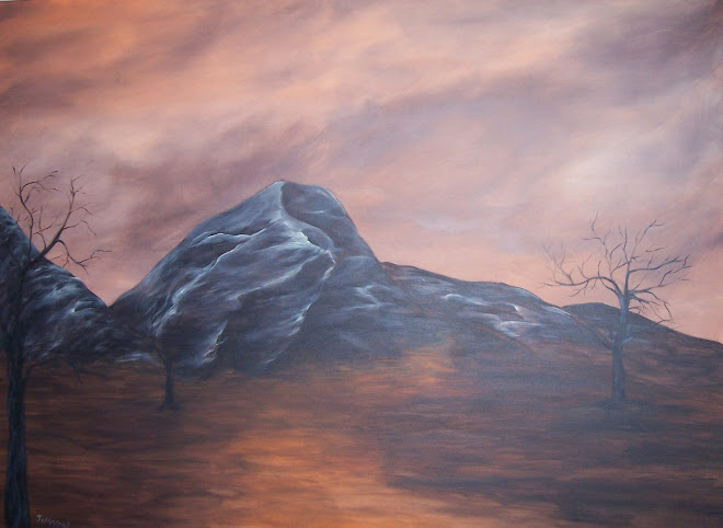 "Mountains  36""x48"""