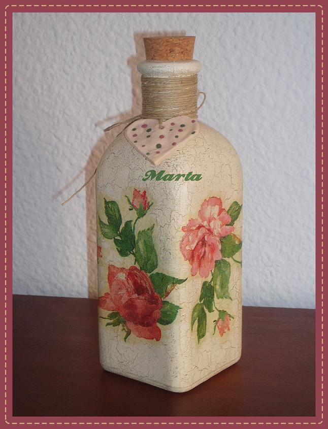 el rincon de mis amigas botella decorada