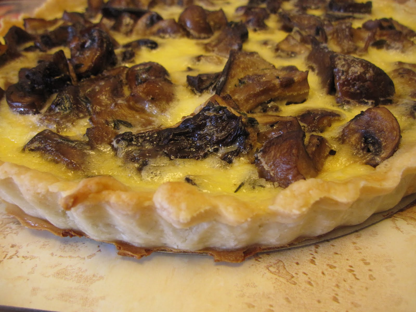 wild mushroom tart tart from epicurious com tart shell from in the ...