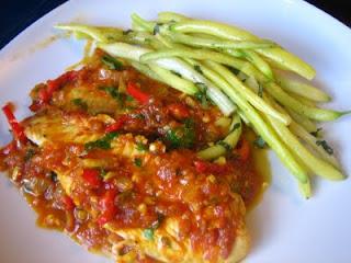 Tilapia in Tomato Saffron Sauce - Recipes4EveryKitchen