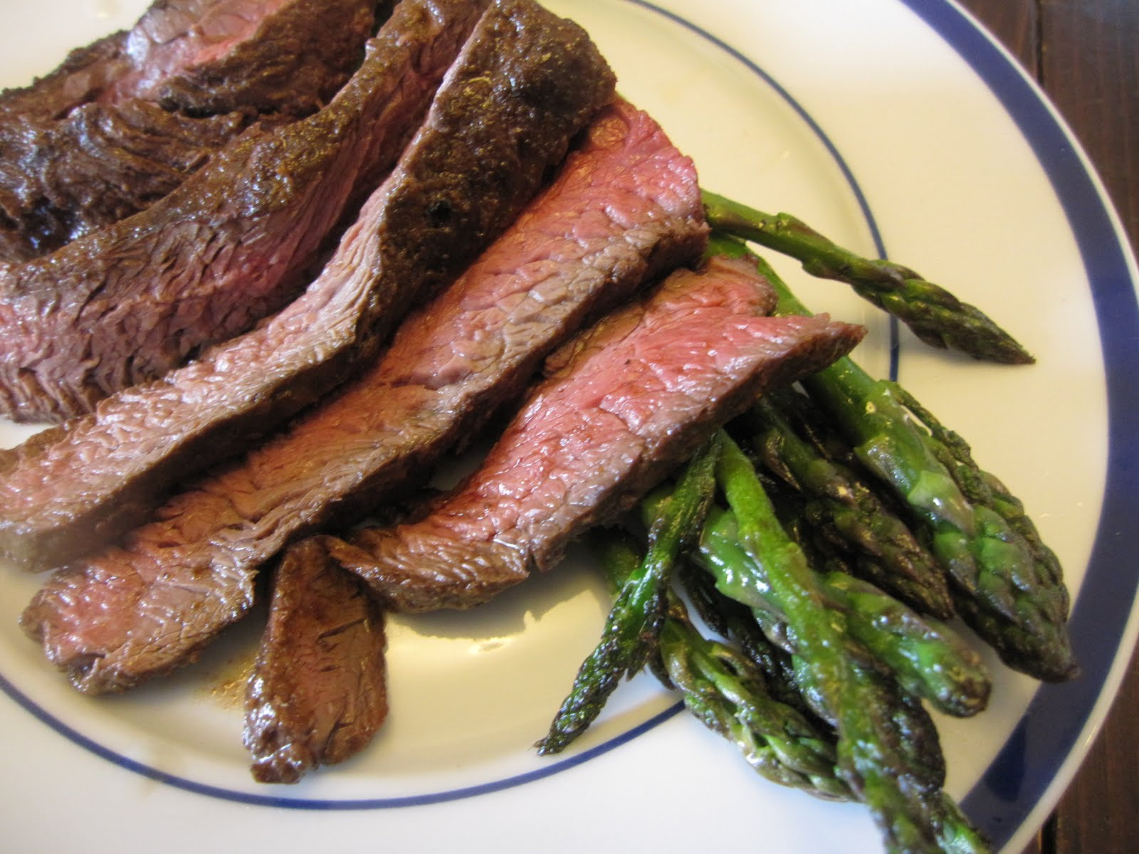 marinated hanger steak