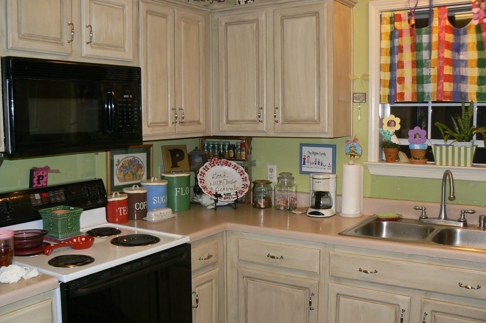 Kitchen Cabinets Painted With Glaze my 4littlepilgrims: painted and glazed kitchen cabinets