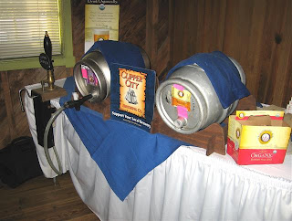 two casks at Magnolias for Clipper City Beer Dinner
