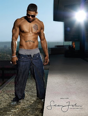 Elephant tattoo Nelly II EYE CANDY: NELLY NEW MODEL FOR SEAN JOHN UNDERWEAR
