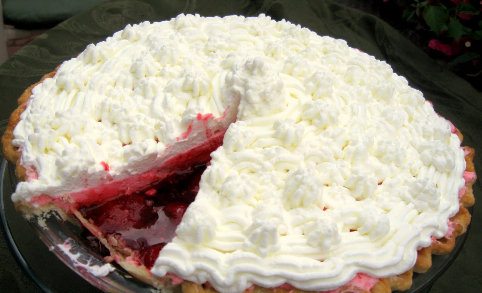 Raspberry Chiffon Pie ~ Sugar Pies