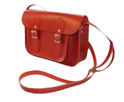 red satchel by the Cambridge satchel company
