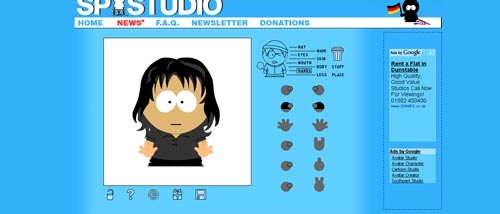 free online south park character creator games
