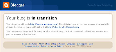 Your blog is in transition