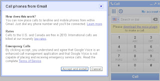 Call Phones from gmail