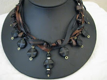 black and brown choker