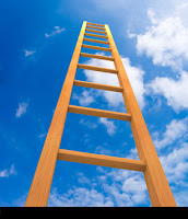 ladder extending into the sky