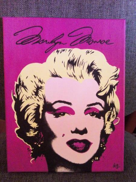Warhol's Marilyn painting for sis