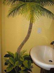 Palm Bathroom Mural 2