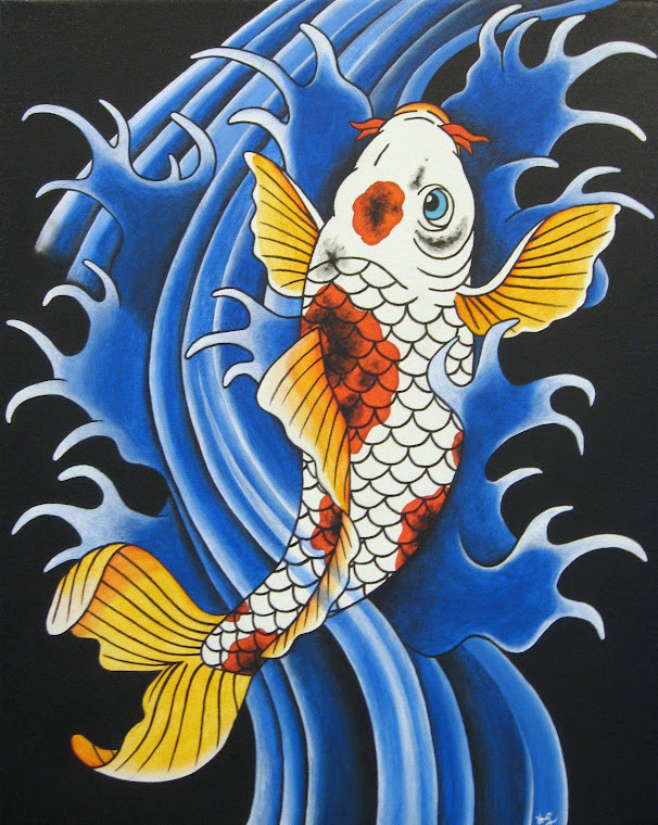 "Koi 16"" x 20"" Original Painting"