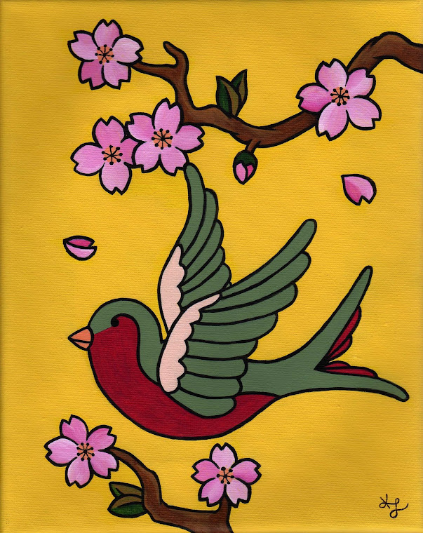"""""""Cherry Blossom Sparrow #2"""""""