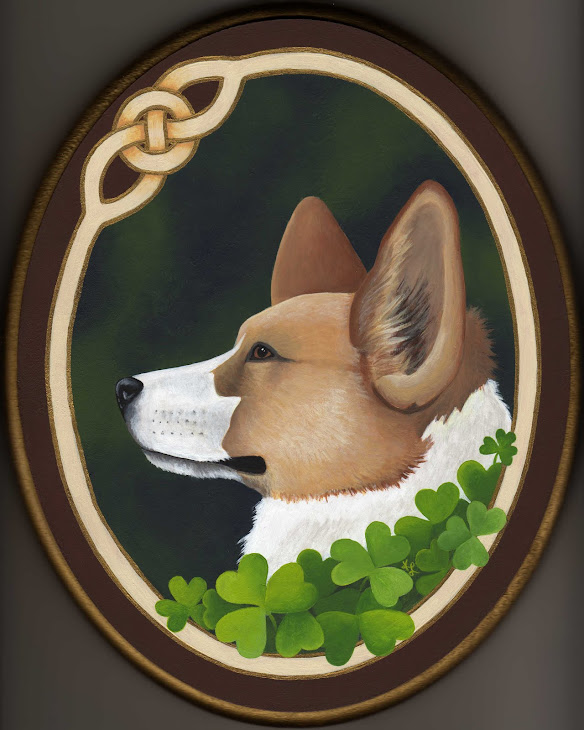 Lucky Corgi painting
