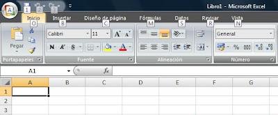Acceso mediante el teclado a la cinta de opciones