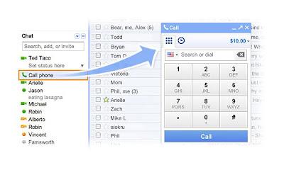 Gmail permitirá hacer llamadas de voz