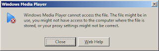 Windows Media Player Cannot Access the File