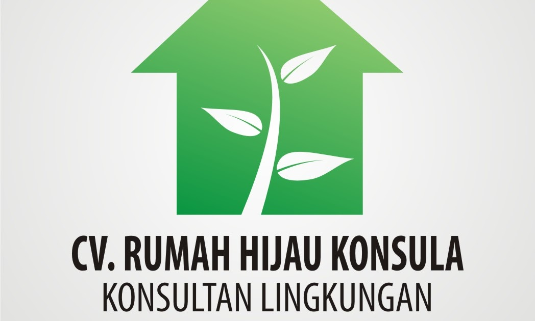 wide label indonesia logo design cv rumah hijau konsula