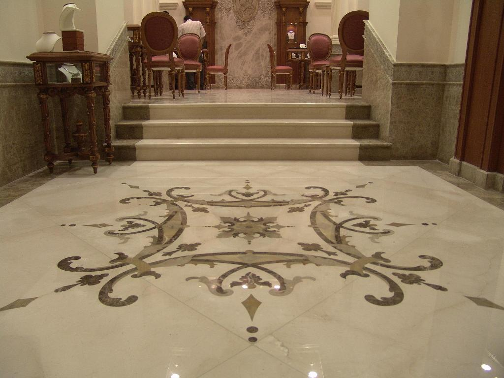Beautiful designs of marble flooring for Classic floor designs