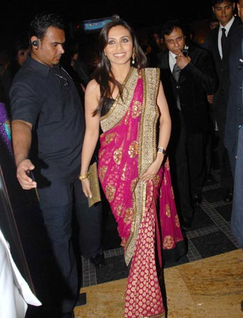 Rani Mukherjee At Shilpa Shettys Wedding Above Below