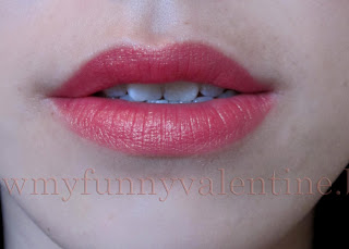 Lancome colour design matte lipstick corset lip swatch