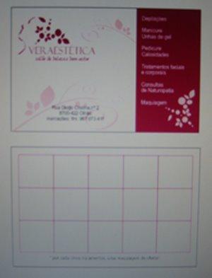 Cartão personalizado (frente e verso)