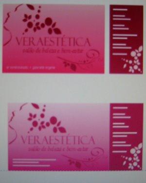 Vitrine (papel autocolante) e flyer