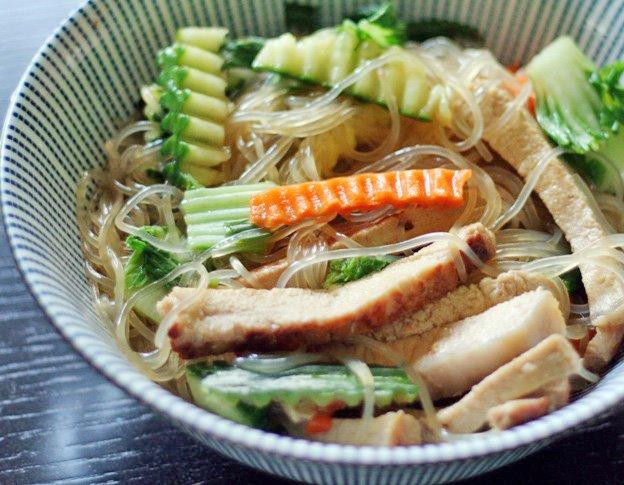 ... cellophane noodles 2 thick cut pork chops or about 8 oz of pork