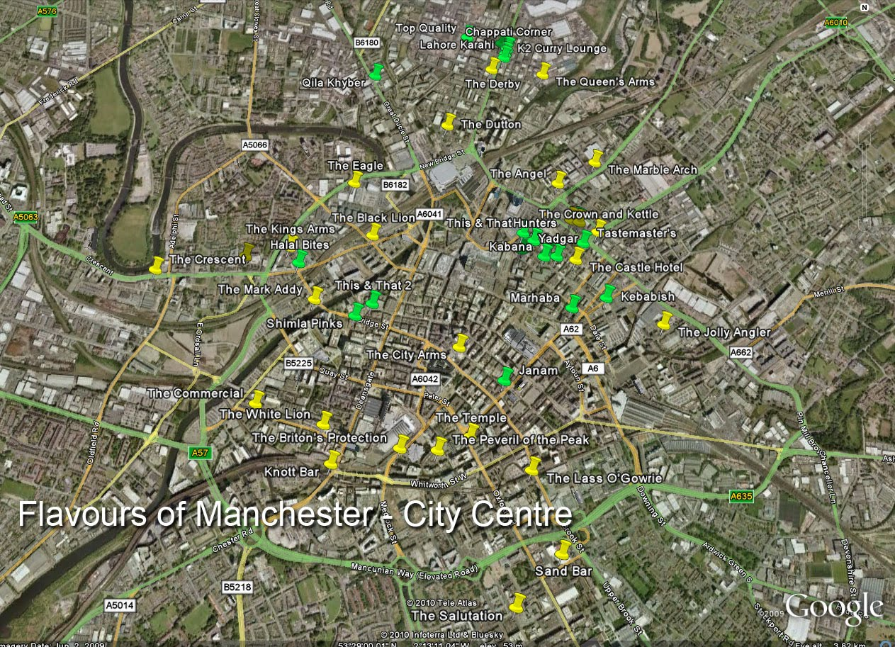 Flavours of Manchester City Centre Map