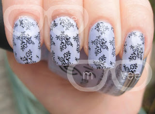 China Glaze - Agent Lavender & Konad Image Plate M71 @ milanandvanaily
