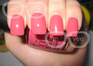 OPI Strawberry Margarita swatch @ milanandvanaily