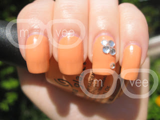 china glaze peachy keen swatches @ milanandvanaily