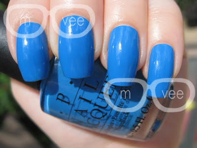 OPI Ogre the-top Blue
