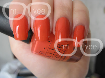 OPI hot and spicy swatch