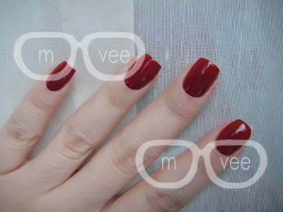 OPI dusty red swatch