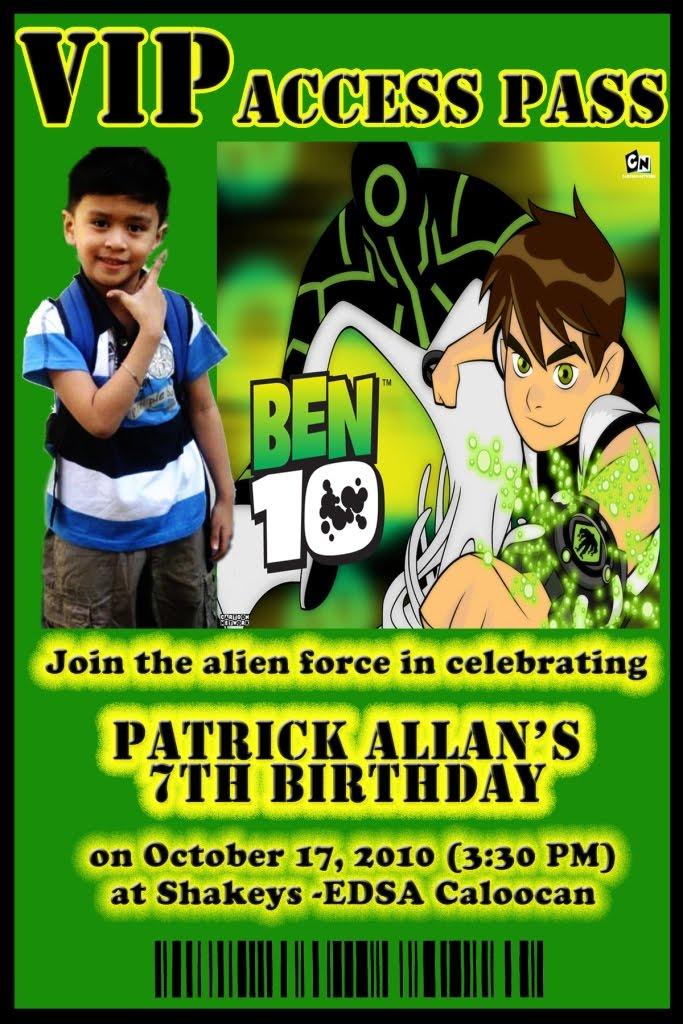 Ben 10 birthday invitations 28 images ben 10 invitations ben personalised birthday invitations favours antagonist placeholder stopboris Gallery